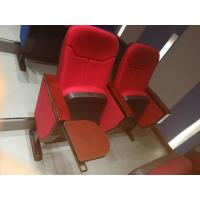 China 80MM Armrest Automatically Curve Auditorium Folding Theater Seats With Writing Tablet wholesale