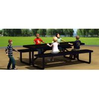 China Rubber Coated Convertible Bench Picnic Table Resist Vandalism For Public Space wholesale
