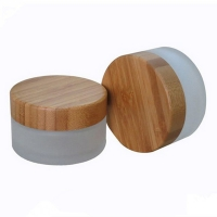 China Bamboo Glass Frosted Mist Spray Bottles & Jars for Facial Serum Lotion 5g~250g wholesale