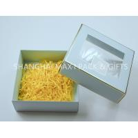 China Transparent Window Folding Cardboard Gift Boxes , Collapsible Gift Boxes With Shredded Paper on sale