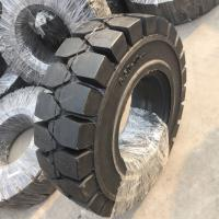 China Solid forklit tire 11.00-16, high quality solid tire 1100-16, industry solid tire 11.00-16 black nylon tire on sale