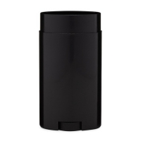 China Black Twist Up Oval Shape Solid Deodorant Container 50g wholesale