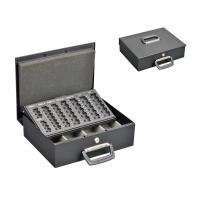 China OEM Service Metal Cash Box Euro Coin Collection With Removable Coin Tray wholesale