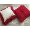 China Tibetan Lambskin Cushions Tibet sheepskin curly fur cushion mongolian fur pillow wholesale