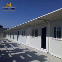 China 20ft Flat Pack Container House Steel Frame Sandwich Panel House Easy Installation on sale