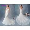 China Embroidered Lace / Tulle / English Net Mermaid Style Wedding Dress Detachable Cap Sleeve wholesale