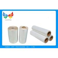 China Water Soluble PVC Shrink Film Rolls High Shrinkage Ratio For Full Body Sleeves wholesale