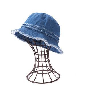 China Casual Denim Fabric Fisherman Bucket Hat For Coastal Beach wholesale
