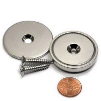 China Kellin Neodymium Pot Neodymium Disc Countersunk Hole Magnets Strong Permanent Rare Earth Magnet With Screws for  Crafts on sale