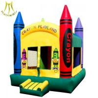 China Hansel 2018 factory for sale  theme park kids indoor playground hot fun house inflatable bouncy on sale