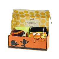 Quality Customized Size Baby Socks Folding Boxes Corrugated Paper Full Color Printing for sale