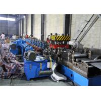China Two Waves Highway Guardrail Roll Forming Machine 12-15 M/Min Hydraulic Cutter wholesale