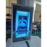 China 86/75inch Transparent LCD Display Box with Interactive Touch Showcase Hologram Boxes advertising display screen wholesale