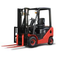 China Red 1 Ton Heavy Duty Diesel Forklift Truck , Warehouse Reach Forklifts wholesale