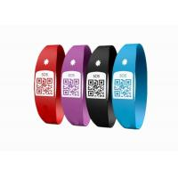 China Latex Free Custom Silicone Bracelets / SOS Medical ID Bracelet With Unique QR Code wholesale