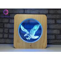 China Eagle Night Light 3D Illusion Table Lamp , 3D LED Illusion Light Home Decor wholesale