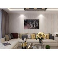 Buy cheap Curve Lines Pattern Non - woven Living Room Wallpaper , Washable Family Room Wallpaper from wholesalers