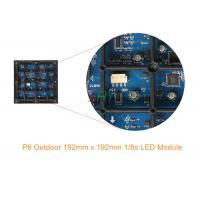 China High Definition 6mm Outdoor LED Display Module / Full Color Waterproof LED Module 1/8 Scan wholesale