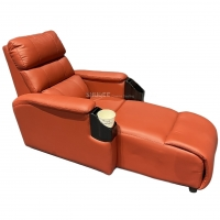China Luxury Genuine Leather Chair Home Cinema Seats VIP Sofa With Inclined Cup Holder wholesale