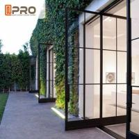 China Modern Tempered Glass Pivot Entry Door Thickness 1.4 / 1.6 /1 .8 / 2.0mm on sale