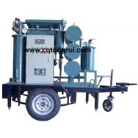 China Protable ZJL Dielectric Oil Purifier with Trailer,Insulating Oil Filtration machine on sale