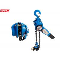 China Blue 1 / 2  Ton Manual Chain Lever Hoist / Heavy Duty Chain Come Along Lift Height 3m wholesale
