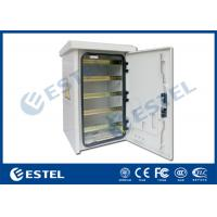 China DIN Rail Outdoor Pole Mount Enclosure Three - Point Lock With Fan Cooling wholesale