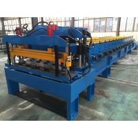 China Galvanized Steel Steel Tile Roll Forming Machine 0.4-0.6mm Thickness wholesale