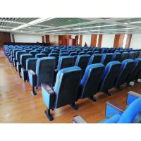 China Free Logo Design Oak Armrest Auditorium Theater Seating With Small Tablet wholesale