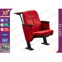 China Back MDF Writing Tablet Folding Auditorium Theater Seating With Small Armrest wholesale