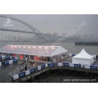 China Anodized Aluminum Framed High Peak Tents , High Peak Marquees Clear Pvc Window wholesale