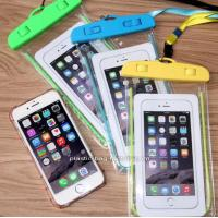 China IPX8 Water-Resistant Phone Dry Bag Waterproof Phone Pouch with Fluorescent Frame for Outdoor Water Activities wholesale