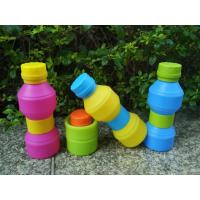 China Travel Durable Reusable With Leak -  proof Lid Foldable Silicone Drinking Bottle wholesale