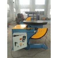 China Elbow Rotary Welding Positioner Table Foot Pedal 1000KG Tilting  Capacity wholesale