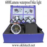 China LED bicycle light accessories CREE 6000Lumens waterproof on sale