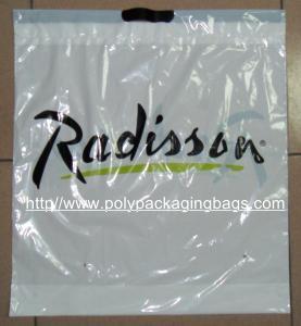 China Customized White PlasticDrawstringBags / Ribbon Drawstring Poly Bags on sale