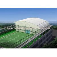 China High Strength Steel Frame Structure With Aluminum Roll Up Door , PVC Pipe Rain Spout wholesale