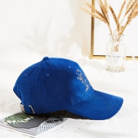 China Embroidery Logo Corduroy Adult Baseball Cap For Winter wholesale