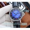 China Rolex Day-Date Men's Replica Watch D-Blue Dial Black Leather Strap men's Rolex watch wholesale