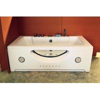 China Double Jacuzzi Whirlpool Bath Tub Small Deep Soaking Tub Computer Control Ss Support wholesale