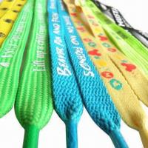 China Silkscreen Print Shoelace/LED Shoelace, Promotional/Fashionable/Neck Lanyard Webbing with Logo Strap wholesale
