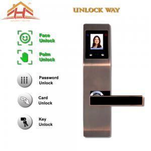 China Zinc Alloy Interior Face And Biometric Fingerprint Door Lock 8-12 Months Life wholesale