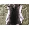 China Light Grey Rex Rabbit Fur Neck Warmer , Real Rex Rabbit Pelts Skin For Plate Blanket wholesale