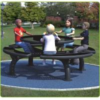 China 250*250*76cm Outdoor Site Amenities / Black Trendy Outdoor Picnic Tables For Parks wholesale