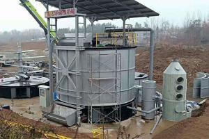 China Environmental 10 M³/ Day 81㎡ Pig Manure Fermentation Tank wholesale