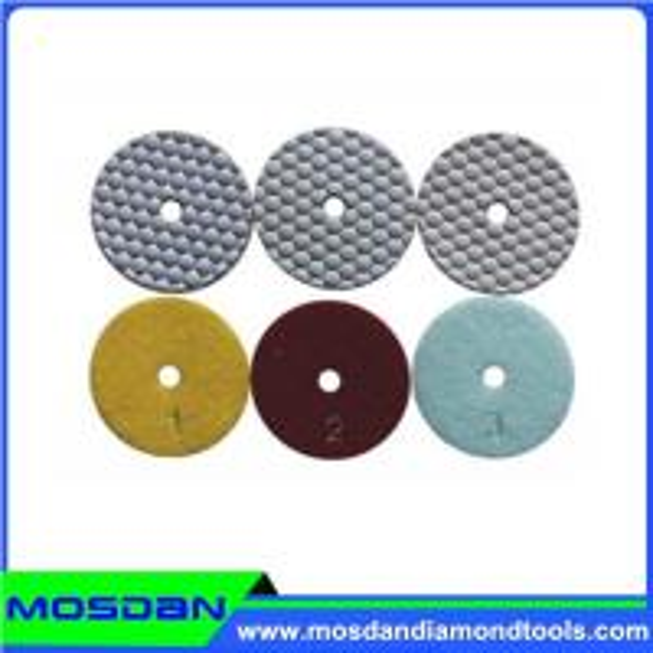 3 Step Dry Polishing Pads Of Mosdandiamondtools