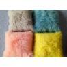 China Long hair curly mongolian sheep fur cushion Tibetan Lambswool fur Throw Pillow wholesale