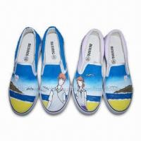 China Hand-painted Art Decor Women's Canvas Shoes, OEM Orders are Welcome on sale