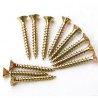 China Sus304 Sus316 Spax Solid Wood Flooring Screws For Plywood Subfloor Yellow White wholesale