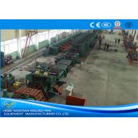 China Low Carbon Steel ERW Pipe Mill Making Machine Rectangular Pipe Shape on sale